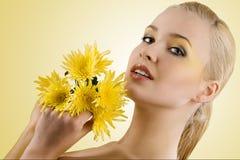 πορτρέτο λουλουδιών κίτ&r Στοκ φωτογραφίες με δικαίωμα ελεύθερης χρήσης