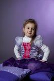 πορτρέτο μαξιλαριών κοριτσιών Στοκ Εικόνα