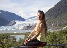 Πορτρέτο με τον παγετώνα Mendenhall Στοκ φωτογραφία με δικαίωμα ελεύθερης χρήσης