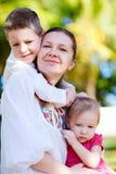 πορτρέτο μητέρων κατσικιών Στοκ Φωτογραφίες