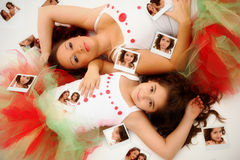 πορτρέτο μητέρων κορών στοκ εικόνες