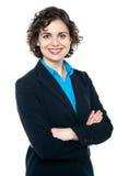 Πορτρέτο μιας βέβαιας επιχειρησιακής κυρίας Στοκ Φωτογραφίες
