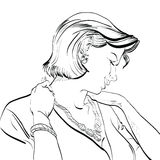 Πορτρέτο μιας γυναίκας Στοκ Εικόνα
