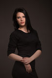 πορτρέτο μιας γυναίκας brunette στοκ εικόνα