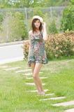 Πορτρέτο μιας ελκυστικής ασιατικής γυναίκας. Στοκ Εικόνα