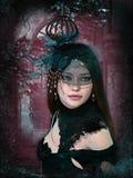 Πορτρέτο μιας μελαχροινής ρομαντικής κυρίας, τρισδιάστατο CG ελεύθερη απεικόνιση δικαιώματος