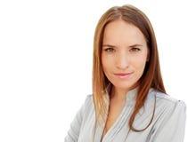 Πορτρέτο μιας νέας ελκυστικής επιχειρησιακής γυναίκας Στοκ Φωτογραφίες