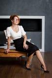 Πορτρέτο μιας νέας επιχειρηματία στο γραφείο Στοκ φωτογραφία με δικαίωμα ελεύθερης χρήσης