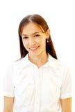 Πορτρέτο μιας νέας ελκυστικής επιχειρησιακής γυναίκας Στοκ φωτογραφία με δικαίωμα ελεύθερης χρήσης