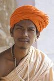 Πορτρέτο μιας νεολαίας ινδής στο Varanasi Στοκ Φωτογραφία
