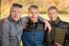Πορτρέτο μιας ομάδας νέων αγοριών Στοκ φωτογραφίες με δικαίωμα ελεύθερης χρήσης