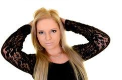 Πορτρέτο μιας προκλητικής ξανθής γυναίκας Στοκ φωτογραφία με δικαίωμα ελεύθερης χρήσης