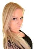 Πορτρέτο μιας προκλητικής ξανθής γυναίκας Στοκ Εικόνες