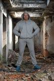 Πορτρέτο μιας τοποθέτησης ατόμων στις καταστροφές Abondend Στοκ φωτογραφία με δικαίωμα ελεύθερης χρήσης