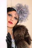 πορτρέτο μιας όμορφης μοντέρνης γυναίκας στοκ φωτογραφία