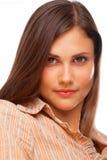 Πορτρέτο μιας όμορφης νέας γυναίκας Στοκ Φωτογραφίες