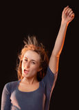 Πορτρέτο μιας όμορφης νέας γυναίκας Στοκ εικόνες με δικαίωμα ελεύθερης χρήσης