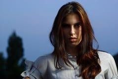 Πορτρέτο ενός όμορφου κοριτσιού Στοκ Φωτογραφίες