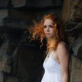 Πορτρέτο μιας redhead γυναίκας στοκ φωτογραφίες με δικαίωμα ελεύθερης χρήσης