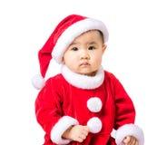 Πορτρέτο μικρών κοριτσιών με τη σάλτσα Χριστουγέννων στοκ φωτογραφία με δικαίωμα ελεύθερης χρήσης