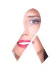 Πορτρέτο μορφής κορδελλών του AIDS Στοκ Εικόνα