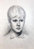 Πορτρέτο μολυβιών ενός κοριτσιού Στοκ Φωτογραφία