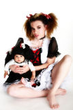 πορτρέτο μωρών mom στοκ φωτογραφίες