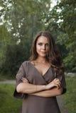 Πορτρέτο μόδας γυναικών φθινοπώρου πτώση όμορφο κορίτσι Στοκ φωτογραφία με δικαίωμα ελεύθερης χρήσης