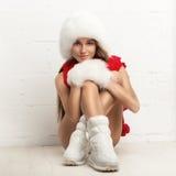 Πορτρέτο μόδας της νέας όμορφης γυναίκας Στοκ Εικόνες