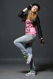 Πορτρέτο μόδας του νέου περιστασιακού κοριτσιού Στοκ εικόνες με δικαίωμα ελεύθερης χρήσης
