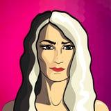 Πορτρέτο μόδας γυναικών Στοκ εικόνα με δικαίωμα ελεύθερης χρήσης