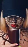 Πορτρέτο μόδας του κοριτσιού με το faceart Στοκ εικόνα με δικαίωμα ελεύθερης χρήσης