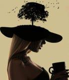 Πορτρέτο μόδας του κοριτσιού με το faceart Στοκ Φωτογραφίες