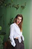 πορτρέτο μόδας Στοκ Εικόνα