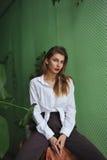 πορτρέτο μόδας Στοκ εικόνες με δικαίωμα ελεύθερης χρήσης