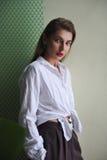πορτρέτο μόδας Στοκ Φωτογραφία