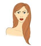 Πορτρέτο ξανθές γυμνές γυναίκες Στοκ εικόνες με δικαίωμα ελεύθερης χρήσης