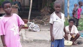 Πορτρέτο ομάδας των παιδιών απόθεμα βίντεο