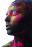 Πορτρέτο ομορφιάς ενός κοριτσιού με τη σύνθεση χρώματος Στοκ Εικόνες