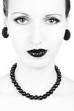 Πορτρέτο ομορφιάς κινηματογραφήσεων σε πρώτο πλάνο Στοκ Εικόνες