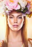 Πορτρέτο ομορφιάς μιας γυναίκας Στοκ Φωτογραφία