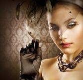 πορτρέτο ομορφιάς ρομαντ&iot στοκ φωτογραφία