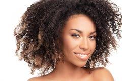 Πορτρέτο ομορφιάς της γυναίκας afro στοκ φωτογραφίες