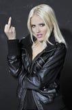Πορτρέτο ομορφιάς της ελκυστικής νέας ξανθής γυναίκας Στοκ εικόνα με δικαίωμα ελεύθερης χρήσης