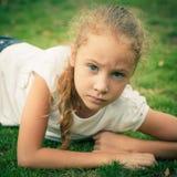 πορτρέτο παιδιών λυπημένο Στοκ Εικόνα