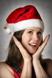 Πορτρέτο που χαμογελά τη γυναίκα Santa στοκ φωτογραφία με δικαίωμα ελεύθερης χρήσης