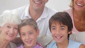 Πορτρέτο πολυμελούς οικογένειας απόθεμα βίντεο