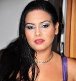 Πορτρέτο προσώπου γυναικών της Νίκαιας Στοκ φωτογραφία με δικαίωμα ελεύθερης χρήσης