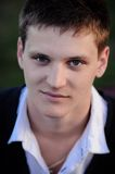 Πορτρέτο προσώπου ενός νεαρού άνδρα Στοκ Εικόνα