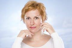 Πορτρέτο σαράντα ετών γυναικών στοκ εικόνα με δικαίωμα ελεύθερης χρήσης